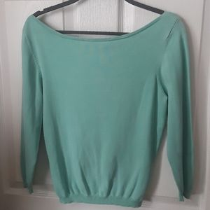 Mint Moda Bateau neck lightweight silk sweater